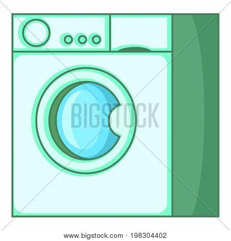Washing machine icon. Cartoon illustration of washing machine vector icon for web design