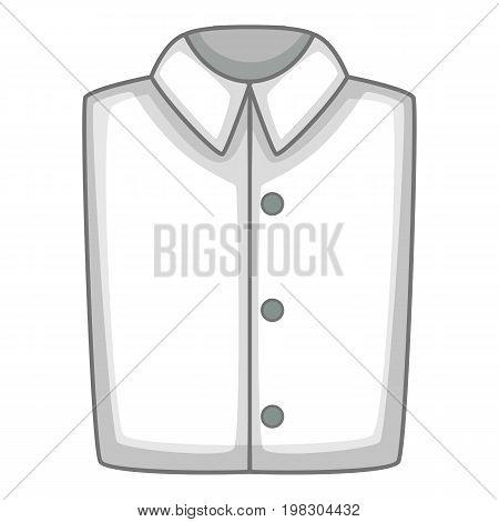 White folded shirt icon. Cartoon illustration of white folded shirt vector icon for web design