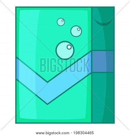 Shower curtains icon. Cartoon illustration of shower curtains vector icon for web design