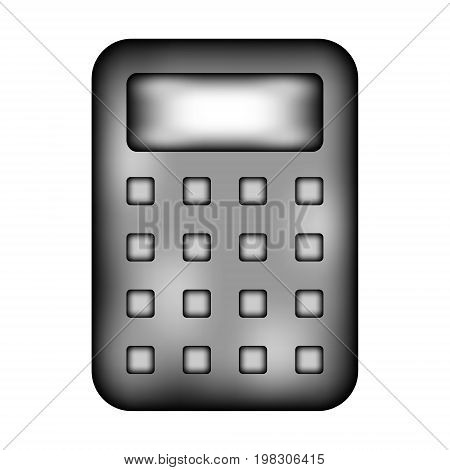 Calculator sign icon on white background. Vector illustration.