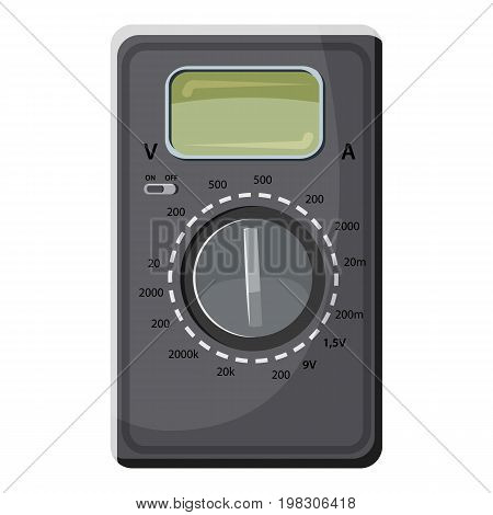 Multimeter, voltmeter icon. Cartoon illustration of multimeter, voltmeter vector icon for web design