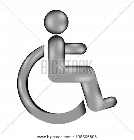 Disabled sign sign icon on white background. Vector illustration.