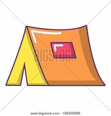 Tourist tent icon. Cartoon illustration of tourist tent vector icon for web design