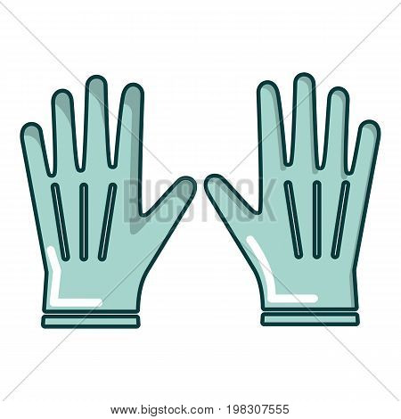Gardening gloves icon. Cartoon illustration of gardening gloves vector icon for web design