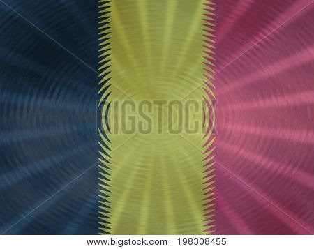 Belgian flag background with ripples and rays illustration