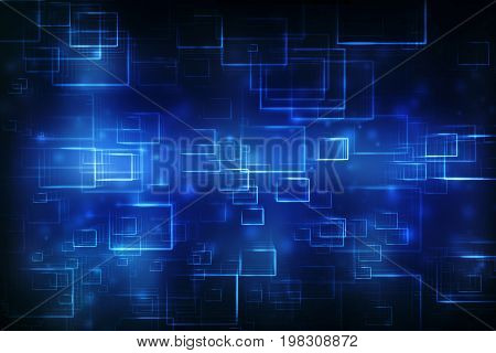 Digital Abstract technology background, cyber background, futuristic background. 3d rendering