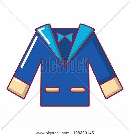 Wedding groom suit icon. Cartoon illustration of wedding groom suit vector icon for web design