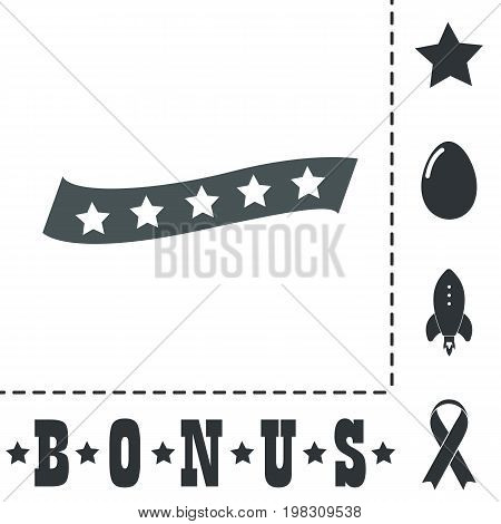 Recommended bestseller star ribbon. Simple flat symbol icon on white background. Vector illustration pictogram and bonus icons