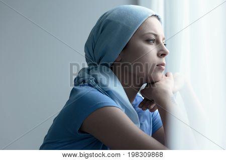 Cancer Survivor In A Scarf