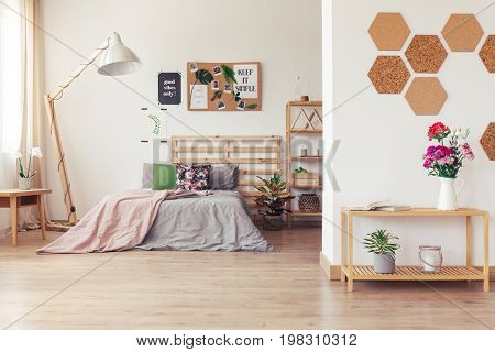 Spacious Wooden Open Plan Studio