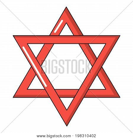 Star of david judaism icon. Cartoon illustration of star of david judaism vector icon for web design