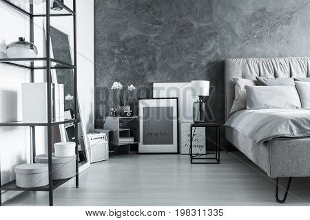 Simple Bedroom With Side Table