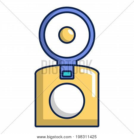 Old school camera icon. Cartoon illustration of old school camera vector icon for web design