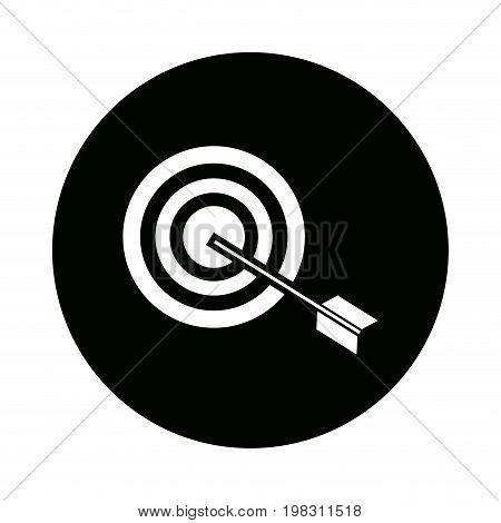 target market consumer bullseye or goal vector illustration