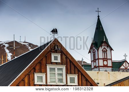 Town Husavik In The North-west Iceland
