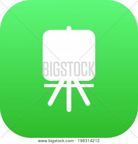 Vector Stand  Element In Trendy Style.  Isolated Easel Icon Symbol On Clean Background.