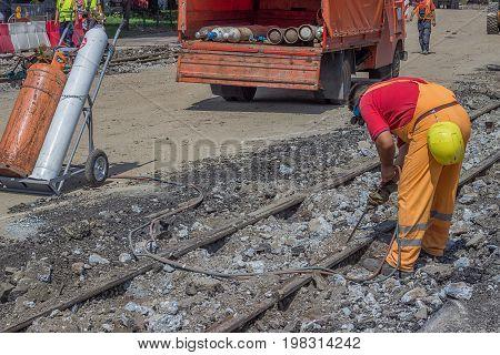 Demolition Of Tram Lines 3
