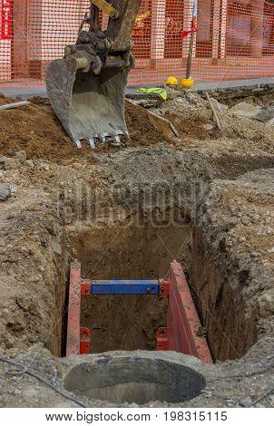 Metal Excavation Shoring 2