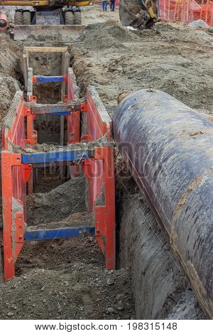 Metal Excavation Shoring, Shoring Supports
