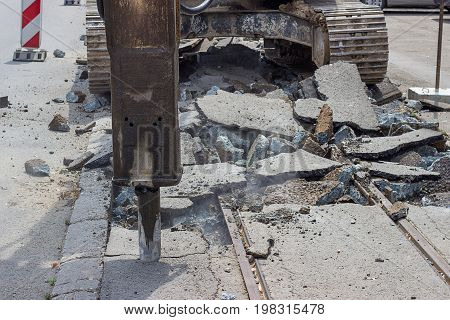 Reconstruction Of Tram Tracks 3