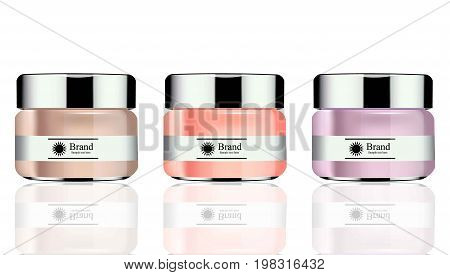 Vector realistic Cosmetics set package. Hydration cream lotion. Perfect for advertising, flyer, banner, poster. 3d illustration