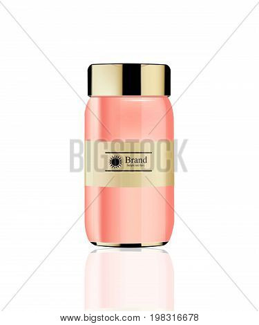 Vector realistic gel cream Cosmetics. Hydration cream or lotion. Perfect for advertising, flyer, banner, poster. 3d illustrations