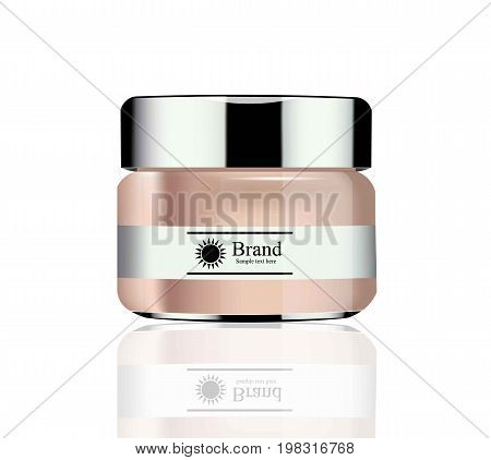 Vector realistic Cosmetics Hydration cream or lotion. Perfect for advertising, flyer, banner, poster. 3d illustrations