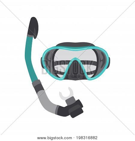 Diving set of elements.scuba gear and accessories. Underwater activity and sports items isolated. Scuba diving equipment collection. Snorkeling and scuba diving icon set