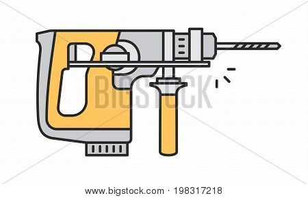 Puncher line icon on white background. Vector illustration.