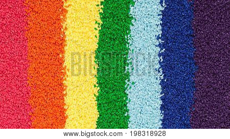 colored rice is the vertical lines in the colors of the rainbow
