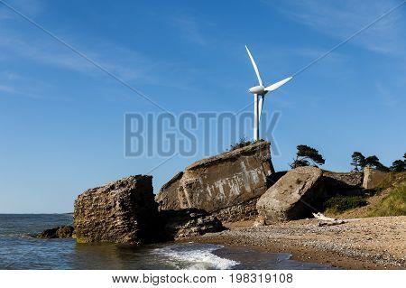 Wind Turbine At Baltic Coast