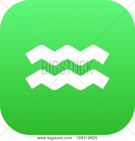 Vector Water Bearer Element In Trendy Style.  Isolated Aquarius Icon Symbol On Clean Background.