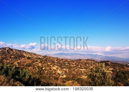 Los Angeles California USA. View from Griffith Observatory in Griffith Park