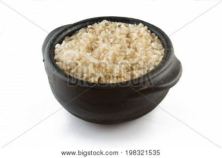Whole Grain Brown Rice Cooked. Integral