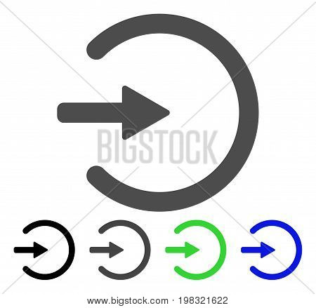 Entrance flat vector pictogram. Colored entrance, gray, black, blue, green pictogram versions. Flat icon style for graphic design.