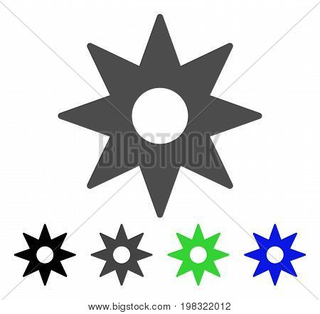 New Star Sticker flat vector pictograph. Colored new star sticker, gray, black, blue, green icon versions. Flat icon style for graphic design.