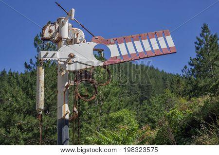 Antique Railroad Arm Semaphore