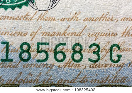 The Fragment Of 100 Dollar Bill