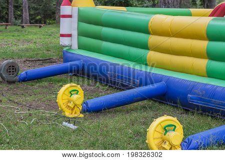 Inflatable Fan Blowers On Bouncy Castle