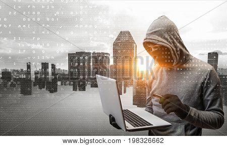 Hacker man stole information
