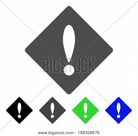 Error flat vector pictograph. Colored error, gray, black, blue, green pictogram variants. Flat icon style for application design.