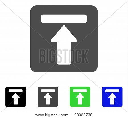 Expand Menu flat vector pictogram. Colored expand menu, gray, black, blue, green pictogram versions. Flat icon style for application design.