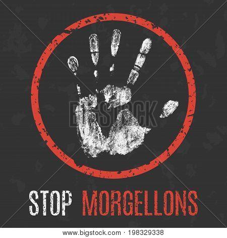 Conceptual vector illustration. The medical diagnosis. Stop morgellons.