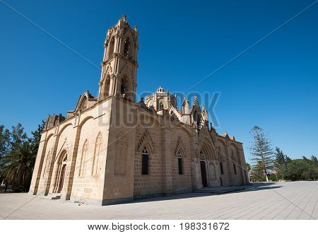Holy orthodox christian church of Panagia at Lysi village Cyprus