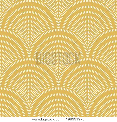 Seamless wave pattern. Art deco seamless background.