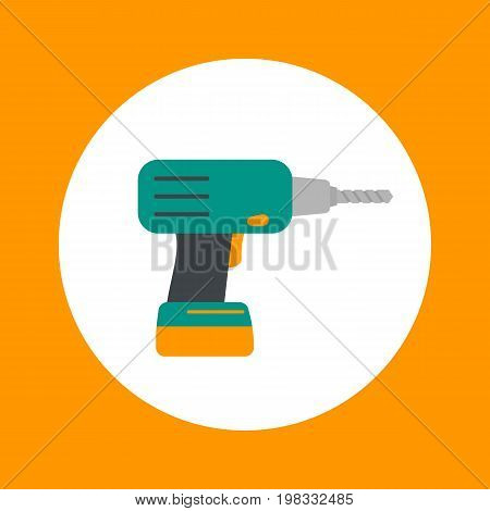 Electric drill icon, eps 10 file, easy to edit