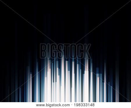 Abstract high tech bright light effect backdrop. Technology concept. 3D Rendering