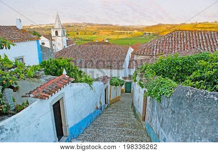 On Hill In Obidos