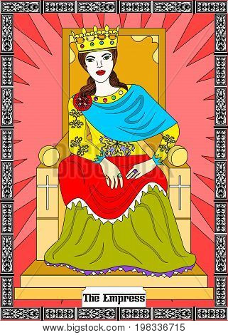 the illustration - card for tarot - the empress.