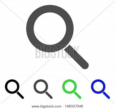 Locate flat vector icon. Colored locate, gray, black, blue, green icon versions. Flat icon style for web design.